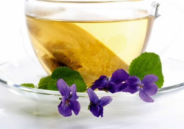 Чай с фиалки